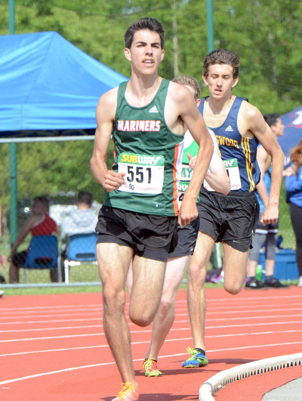 7e7a5895d5 Earl Marriott's Dawson Ribeiro will run middle distance atop Burnaby  Mountain for the GNAC's Simon Fraser Clan. (Varsity Letters photo by Howard  Tsumura)